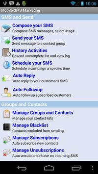 Mobile SMS Marketing poster