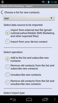 Mobile SMS Marketing apk screenshot