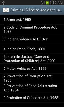 Indian Law Mobile Library apk screenshot