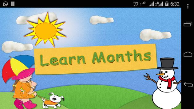 Learn Months With Fun poster
