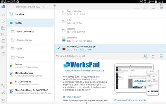 WorksPad apk screenshot
