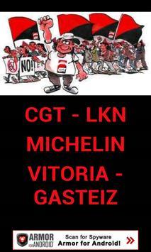 CGT-LKN MICHELIN GASTEIZ poster