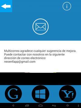 Multicorreo apk screenshot