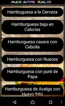 Recetas de Hamburguesas apk screenshot