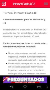 Internet Gratis 4G apk screenshot