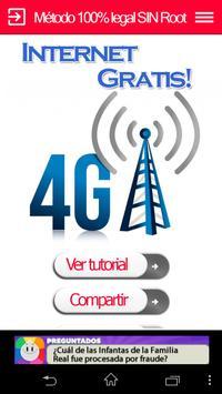 Internet Gratis 4G poster