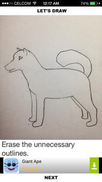 How to Draw Dogs apk screenshot