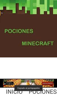 Guide minecraft potions apk screenshot