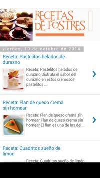 Recetas De Postres apk screenshot