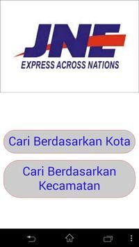 Tarif JNE Yogyakarta 2015 poster