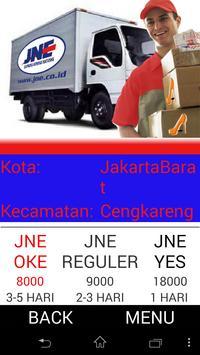 Tarif JNE Yogyakarta 2015 apk screenshot
