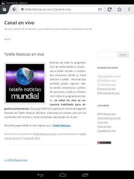Tv en vivo apk screenshot