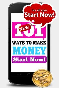 "HOW TO MAKE MONEY! ""101 IDEAS"" poster"