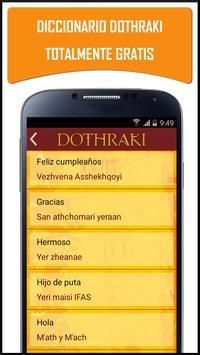 Diccionario Dothraki Español apk screenshot