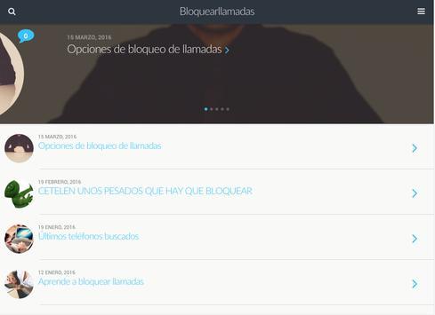 bloquear llamadas apk screenshot