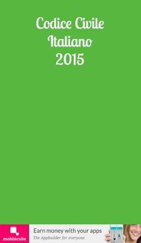 Codice Civile Italiano 2015 poster