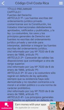 Código Civil Costa Rica apk screenshot