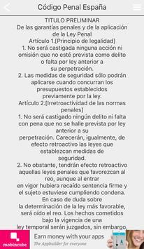 Código Penal de España apk screenshot