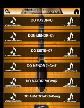Música Gráfico Acordes poster