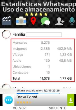 Estadísticas de Whatsapp apk screenshot