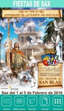 Fiestas de Sax 2016 poster