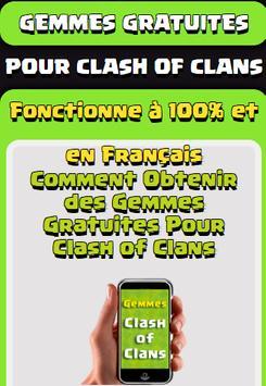 Gemmes Pour Clash Of Clans poster