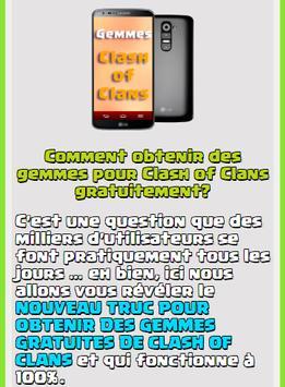 Gemmes Pour Clash Of Clans apk screenshot