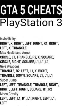 Cheat Codes For GTA 5 apk screenshot