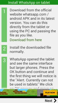 Install Whatsapp on tablet apk screenshot