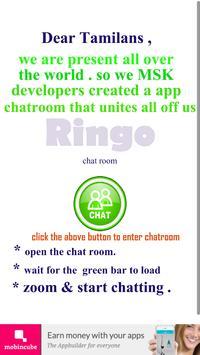 Ringo - Tamil chatroom apk screenshot
