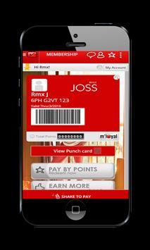 RMX JOSS mLoyal App apk screenshot
