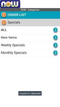 NOWFoods OrderNOW apk screenshot