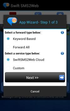 Swift SMS2Web apk screenshot