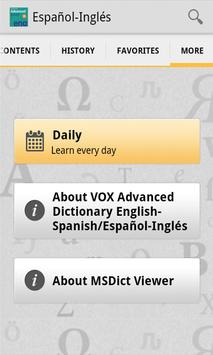 Vox Advanced English-SpanishTR apk screenshot