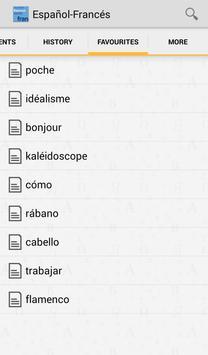 Vox French<>Spanish Dictionary apk screenshot
