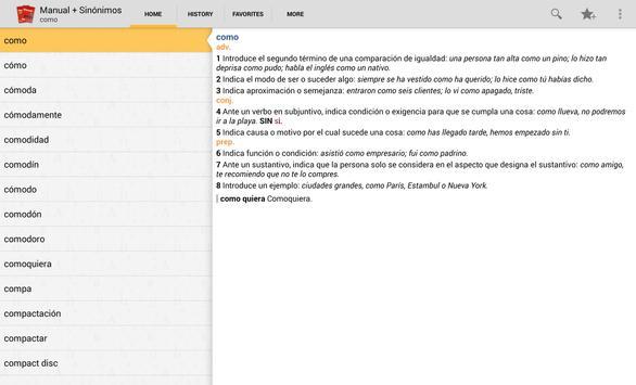 VOX Compact Spanish+Thesaurus apk screenshot