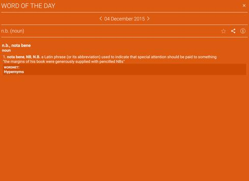 Advanced English & Thesaurus apk screenshot