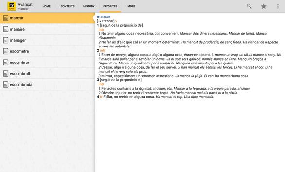 Advanced Catalan Dictionary TR apk screenshot