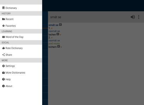 German<>Czech Dictionary apk screenshot