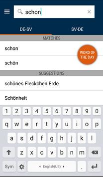 German<>Swedish Gem Dictionary apk screenshot