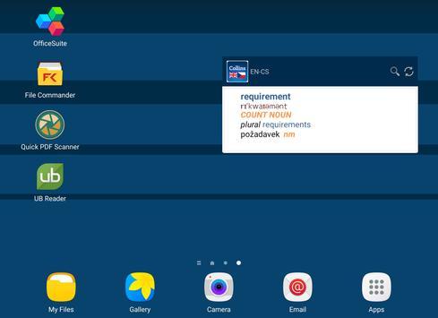English<>Czech Mini Dictionary apk screenshot