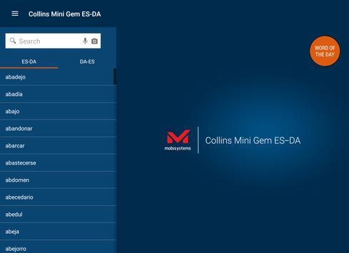 Spanish<>Danish Gem Dictionary apk screenshot