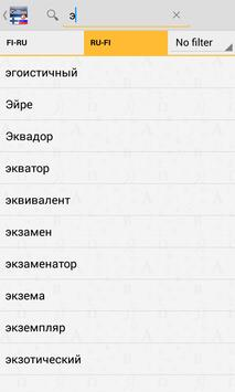 Finnish<>Russian Dictionary T apk screenshot