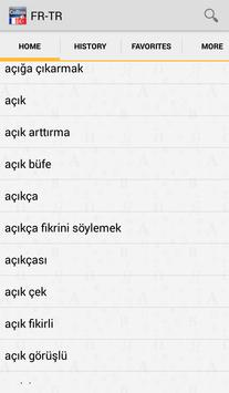 French<>Turkish Dictionary T apk screenshot