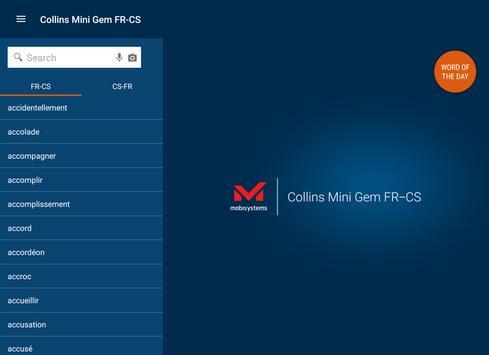 French<>Czech Gem Dictionary apk screenshot