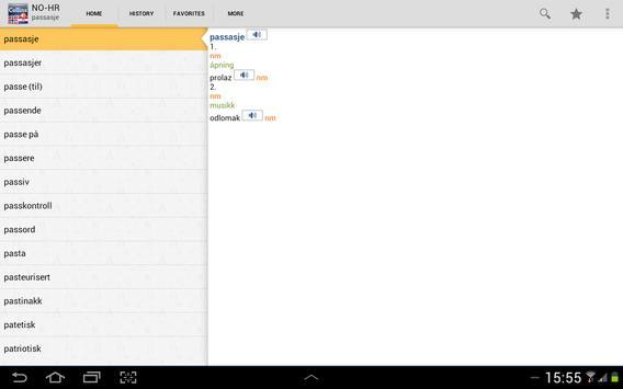 Norwegian<>Croatian Dictiona apk screenshot