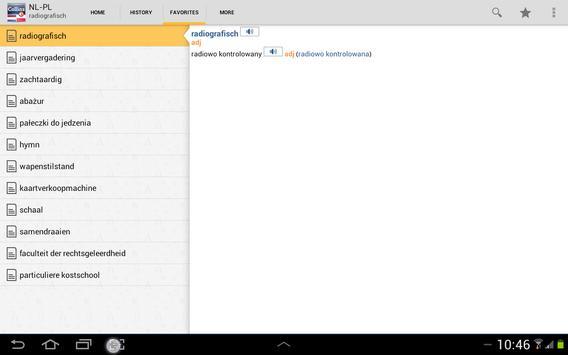 Dutch<>Polish Dictionary TR apk screenshot