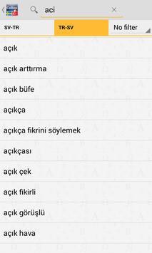 Swedish-Turkish Dictionary TR apk screenshot