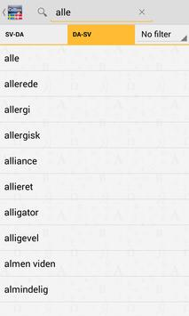Swedish-Danish Dictionary TR apk screenshot