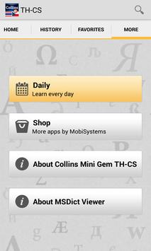 Thai<>Czech Mini Dictionary TR apk screenshot